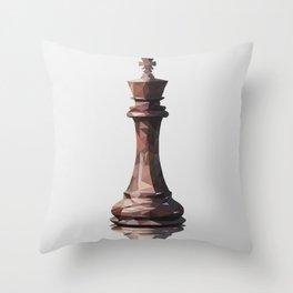 king low poly Throw Pillow