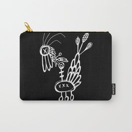 Dead Bird - White on Black Carry-All Pouch