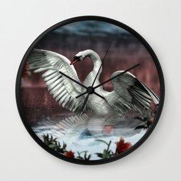 Landing Swan Wall Clock
