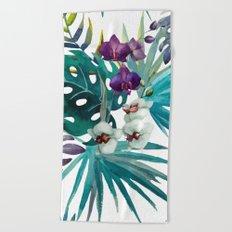 Tropical Floral Pattern 04 Beach Towel