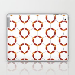 Red Japanese Maple Tree Samara Rounded Hex Pattern Laptop & iPad Skin