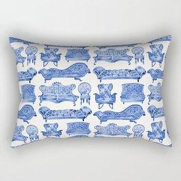 Victorian Lounge – Navy Palette Rectangular Pillow