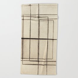 Toner Lines on Paper Beach Towel