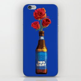 Dudes Love Roses (Blue) iPhone Skin