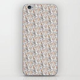 Classic Brown Batik Walang Pattern on White Background iPhone Skin