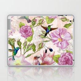 Vintage Roses and Hummingbird Pattern Laptop & iPad Skin
