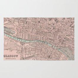 Vintage Map of Glasgow Scotland (1901) Rug