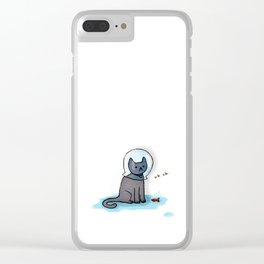 Jellybean and the fish bowl Clear iPhone Case