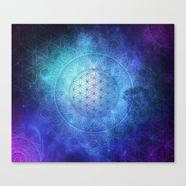 Deep Space Sacred Geomery Canvas Print