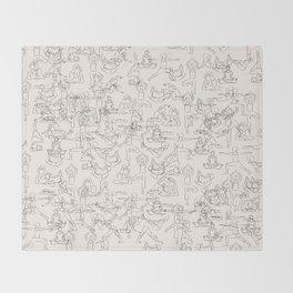 Yoga Manuscript Throw Blanket