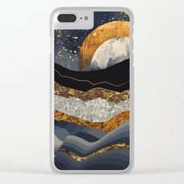 Metallic Mountains Clear iPhone Case