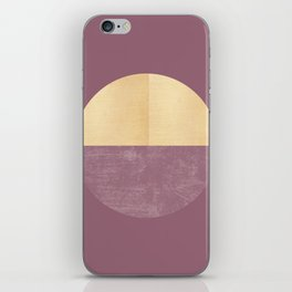 Black and Gold Circle 14 iPhone Skin