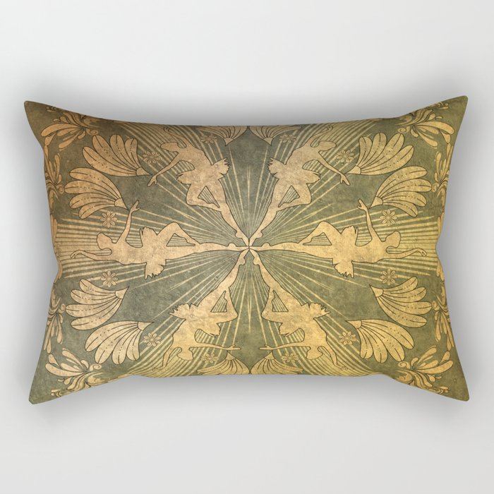 Wonderful mandala of ballerina Rectangular Pillow