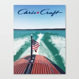 Chris Craft Boating Canvas Print