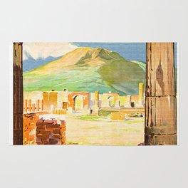 Vintage Pompei Italy Travel Rug