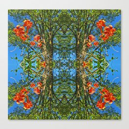 Flower Pattern No. 4 (Tiger Lilies) Canvas Print