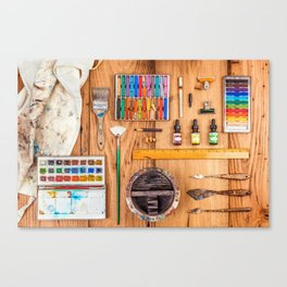 The Artist's Tools Canvas Print