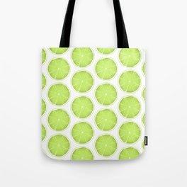 Lime Slices Tote Bag