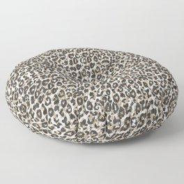 Elegant gold leopard animal print pattern Floor Pillow