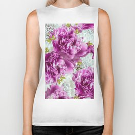 Summer bouquet of purple and white flowers - #Society6 #buyart Biker Tank
