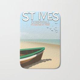 St Ives ,Cornwall ,beach travel poster, Bath Mat