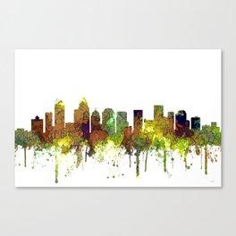 Charlotte NC Skyline SG Safari Buff Canvas Print
