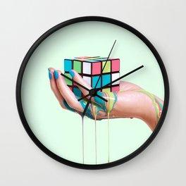 MELTING RUBIKS CUBE Wall Clock
