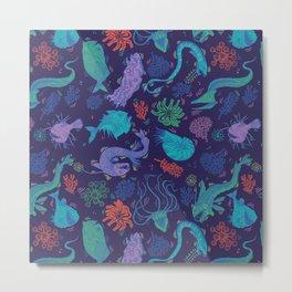 Creatures Of the Deep Sea Metal Print