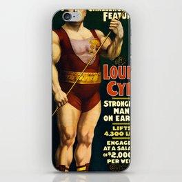 Louis Cyr, Strongest Man on Earth iPhone Skin