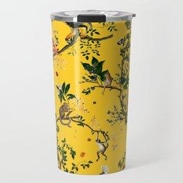Monkey World Yellow Travel Mug