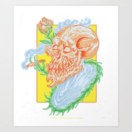 Finally, some peace and death. Art Print