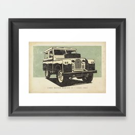 Land Rover Series II Framed Art Print