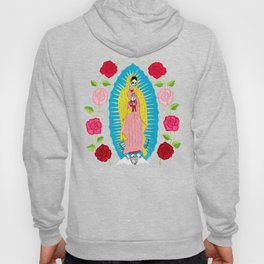 Skull Virgin of Guadalupe_ Hand embroidered Hoody