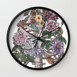 flowering ribs Wall Clock