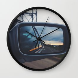 In the Rearview Wall Clock