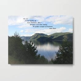he was stitched together Metal Print