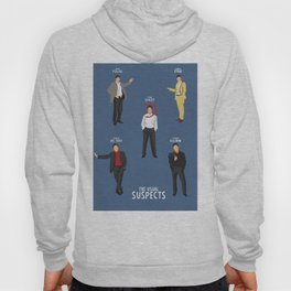 The Usual Suspects, Kevin Spacey, minimalist movie poster, Gabriel Byrne, Singer, Benicio Del Toro, Hoody