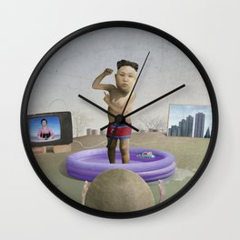 The Child Dictator—Kim Jung Un Wall Clock