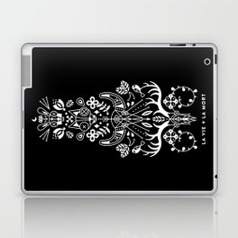 La Vie + La Mort: White Ink Laptop & iPad Skin