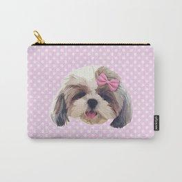 Cute Shitzu Dog Carry-All Pouch
