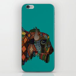 bison teal iPhone Skin