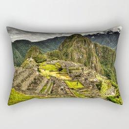 Machu Picchu in Hi-Res HDR landscape photo Rectangular Pillow