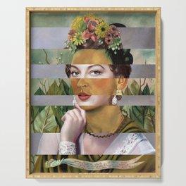 Frida's Self Portrait with Hand Earrings & Ava Gardner Serving Tray