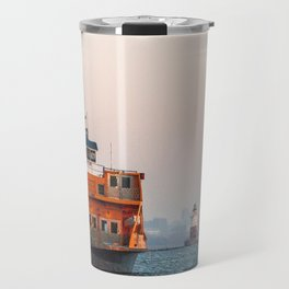 Lighthouse & Staten Island Ferry Travel Mug