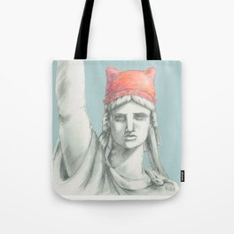 Liberty in PINK skyblue Tote Bag