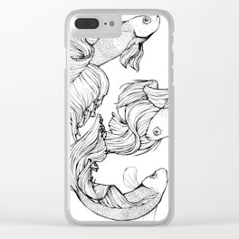 Betta Fish Clear iPhone Case