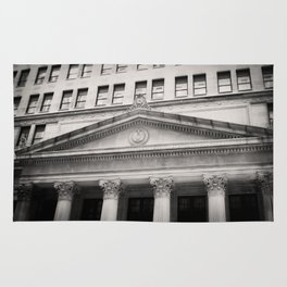Federal Reserve Bank of Chicago Black and White Rug