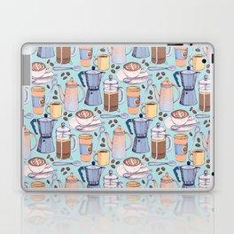 Coffee Love on Blue Laptop & iPad Skin