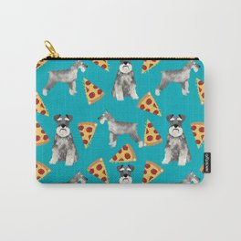 schnauzer pizza dog breed pet pattern dog mom Carry-All Pouch