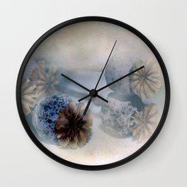 Poppy seed capsules Wall Clock